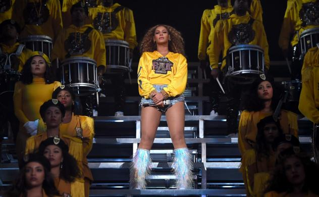 """Beyoncé performed """"Lift Every Voice and Sing"""" during her set at the 2018 Coachella Valley Music and Arts Festival in April."""