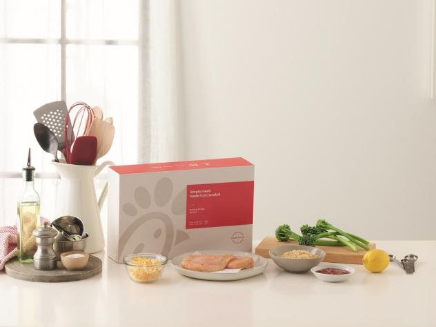 Chick-fil-A is hoping meal kits like this one — containing ingredients to make crispy Dijon chicken — will appeal to customers dining at the restaurant.