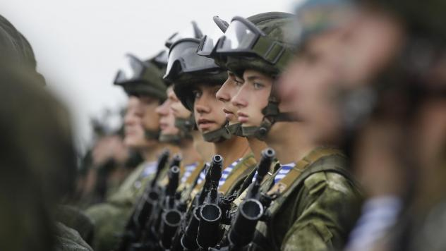 Russian troops and their Belarusian counterparts await orders during joint military exercises in Belarus last year. Next month, Russia will embark on another joint military exercise — this time on a much larger scale and in collaboration with China and