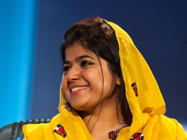 Khalida Brohi grew up Kotri, Pakistan, and was the first girl in her village to go to school.