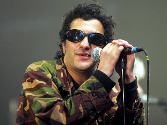 The late Algerian-born, France-based singer Rachid Taha, performing in Lille, France in 2004.