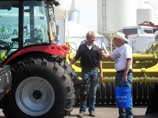 The Big Iron Farm Show draws thousands of farmers and farm equipment makers to a fairground in West Fargo, N.D. For many this year, concerns about crop yields have been eclipsed by worries about President Trump's trade policies.