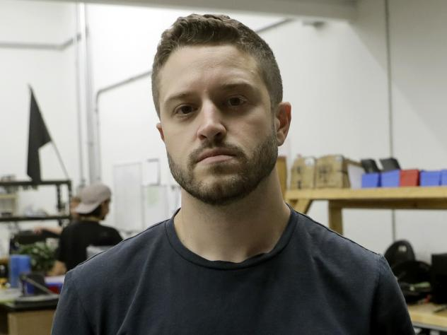 Cody Wilson, founder of Defense Distributed, at his shop in Austin, Texas, last month. On Tuesday, the company announced Wilson resigned and severed all ties with the company on Sept. 21.