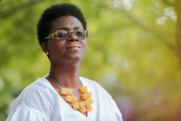 """Niasha Fray works on issues of health equity at Duke University. """"Black women like me have to put on the armor of self-care,"""" Fray says."""