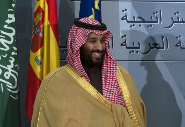 Saudi Arabia's Crown Prince Mohammed bin Salman is shown during a visit to Spain in April. At 33, Mohammed is the kingdom's de facto ruler, and he faces increasing criticism for his handling of issues ranging from the Saudi role in Yemen's war to the rec