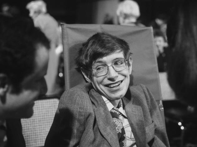 Physicist Stephen Hawking on Oct. 10, 1979, in Princeton, New Jersey.