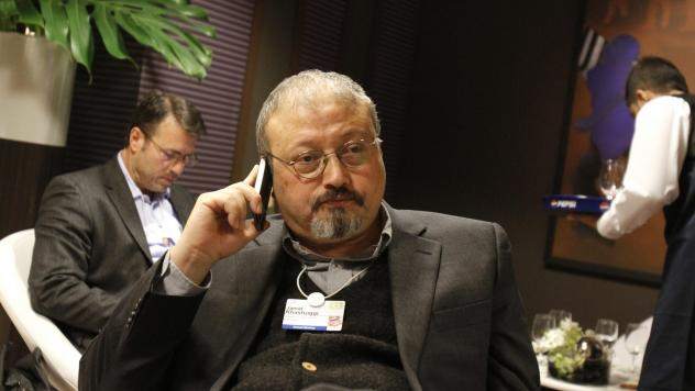 Saudi Arabian journalist Jamal Khashoggi is shown at the World Economic Forum in Davos, Switzerland, in 2011. Khashoggi, who Saudi officials say died in their consulate in Istanbul, had a complicated relationship with Saudi Arabia's royal family. At vari