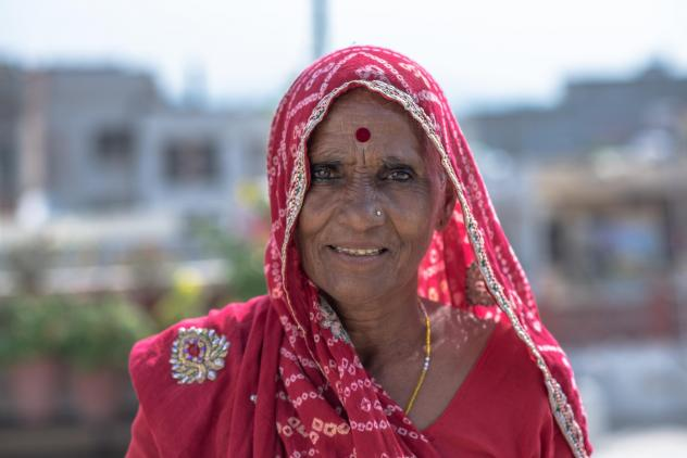 Bhanwari Devi rests at the home of a friend and human rights campaigner in Jaipur, India.