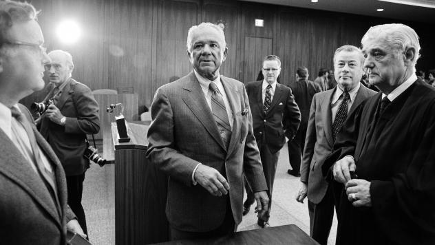 """Watergate special prosecutor Leon Jaworski at his swearing-in on Nov. 5, 1973. A long-sealed """"road map"""" prepared by Jaworski's office has now become public."""