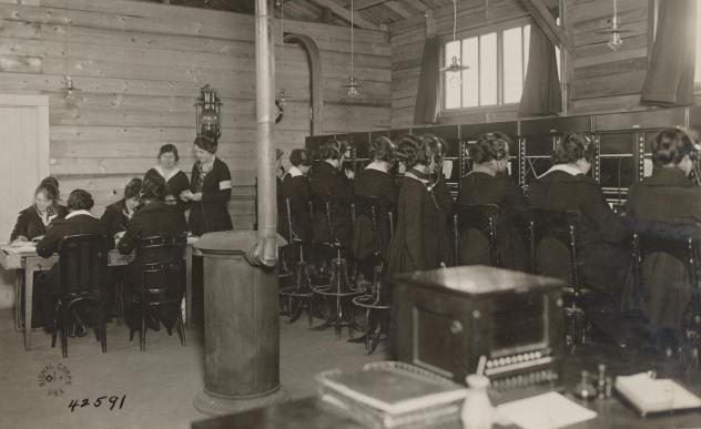 """The U.S. military needed skilled operators to handle the telephones in World War I. Known as the Hello Girls, 223 U.S. women served in France. Some worked near the front lines with Gen. John """"Black Jack"""" Pershing, the top U.S. commander. Here, the women"""
