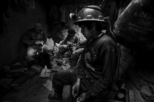 """Francescangeli says boys sometimes work long hours and are often tasked with pushing carts to move rocks out of the mines. """"Being a child in these places is really hard,"""" he says. """"If they have some time to spend in a free way, they like to be children."""