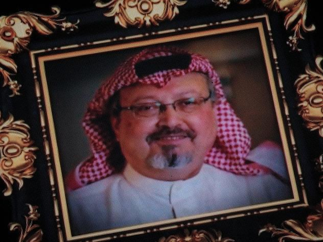 "President Trump says the U.S. will remain a ""steadfast partner"" of Saudi Arabia, despite the killing of journalist Jamal Khashoggi, whose image was shown on a screen at a memorial earlier this month."