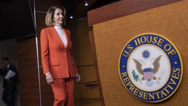 House Minority Leader Nancy Pelosi, D-Calif., arrives for a news conference earlier this month. Many Democrats who distanced themselves from Pelosi in the midterms are coming around to voting for her for speaker again.