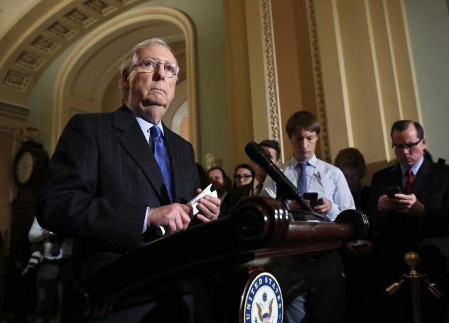 Senate Majority Leader Mitch McConnell told reporters that the Senate was considering a response to the killing of Saudi journalist Jamal Khashoggi but declined to outline the options.
