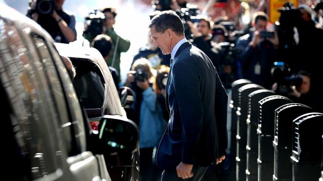 Michael Flynn, former national security adviser to President Trump, leaves following his plea hearing at the Prettyman Federal Courthouse in Washington, D.C., last December. Sentencing documents indicate he has been helpful to the ongoing special counsel