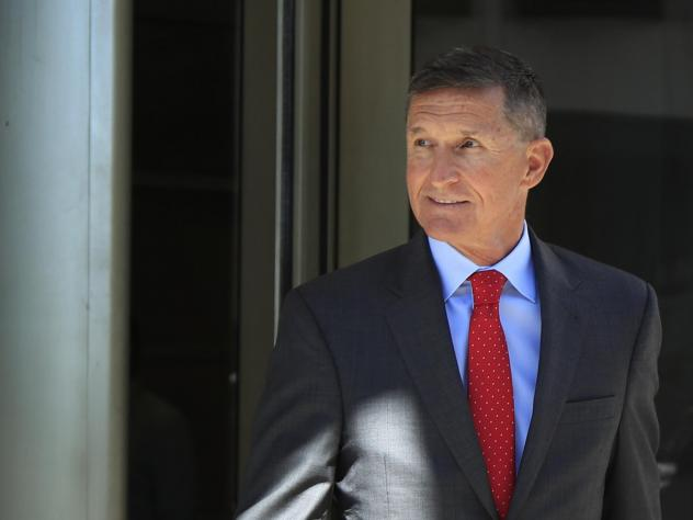 Former Trump national security adviser Michael Flynn leaves federal courthouse in Washington in July, following a status hearing.