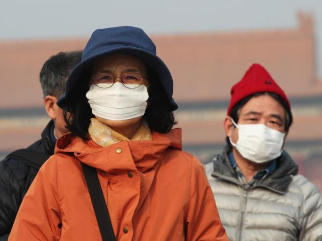 Smog hits Beijing on December 1. A new report presents evidence of cleaner air, but environmental observers are worried about levels of pollution this winter.