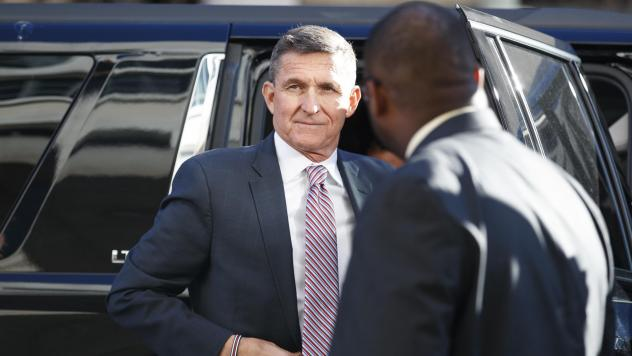 President Trump's former national security adviser Michael Flynn arrives at federal court in Washington. D.C., Tuesday.