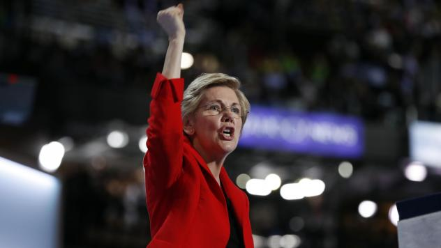 Sen. Elizabeth Warren, shown at the Democratic National Convention in Philadelphia in July 2016, would likely face a crowded Democratic field in 2020.