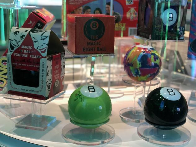 The Magic 8 ball is one of three iconic toys inducted into the National Museum of Play's Toy Hall of Fame this year. (Courtesy of the National Museum of Play)
