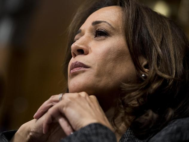 Sen. Kamala Harris, D-Calif., listens to testimony at a Senate Judiciary Committee hearing in September. Kamala, along with Sens. Cory Booker, D-N.J., and Tim Scott, R-S.C., proposed the anti-lynching bill passed by the Senate on Wednesday.
