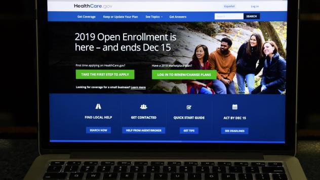 The federal website where consumers can sign up for health insurance under the Affordable Care Act is shown on a computer screen in Washington, D.C., last month. The federal judge in Texas, who earlier this month ruled the Affordable Care Act unconstitut