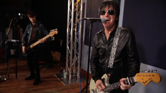 Johnny Marr performing live inside the World Cafe Performance Studio