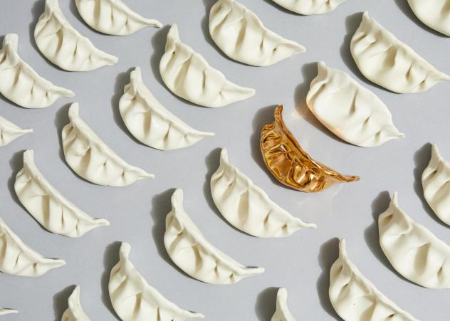 Artist Stephanie Shih remembers making pork-filled dumplings with her family and started her art project by sculpting six of them out of porcelain. She's now made 600.