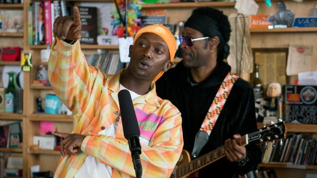 Buddy performs a Tiny Desk Concert on Dec. 4, 2018 (Cameron Pollack/NPR).