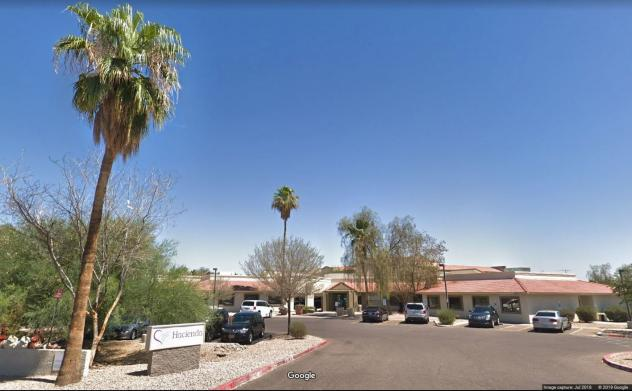 A Hacienda HealthCare location in Phoenix, where a patient in a vegetative state gave birth to a child last month. Police are now investigating the incident.
