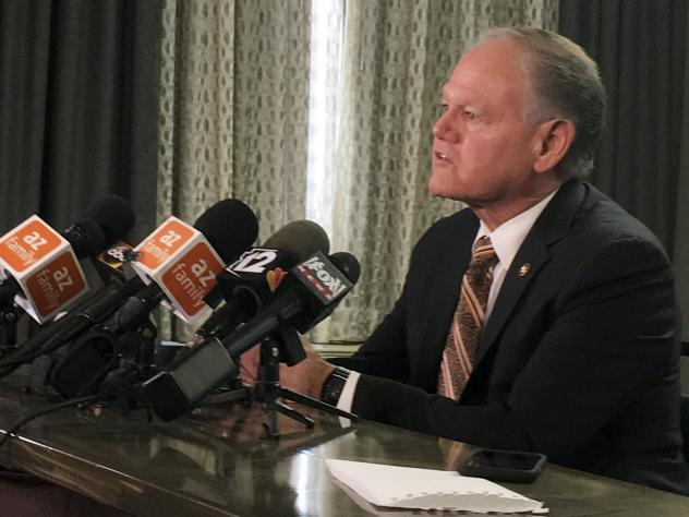 Rick Romley, former Maricopa County Attorney, held a news conference on Monday, explaining his role in the internal investigation of management and security practices at Arizona's Hacienda Healthcare.