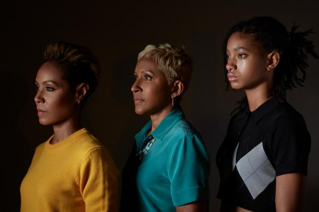 The hosts of Red Table Talk are, from left to right: Jada Pinkett-Smith, her mother Adrienne Banfield-Norris and her daughter Willow Smith.