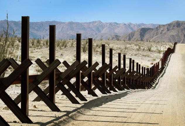 A steel barrier runs along the border of the United States and Mexico near Calexico, California. Bipartisan negotiators on Capitol Hill are discussing what kind of physical barriers are needed and how much Congress should spend to address national securi