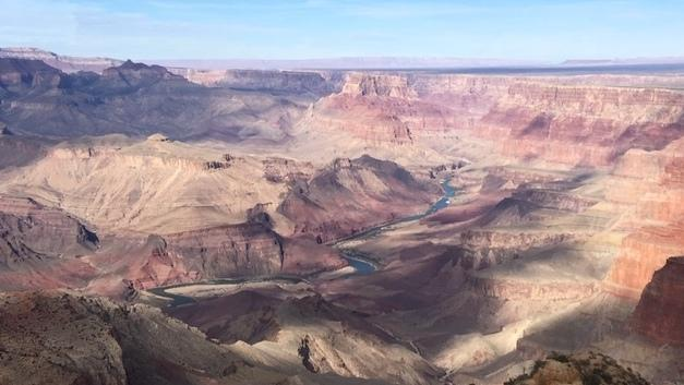 The view of the Grand Canyon from the top floor of Desert View Watchtower on the southeastern rim. Eleven tribes have traditional ties to the Grand Canyon.