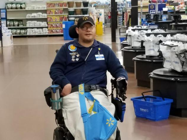 """John Combs is a """"people greeter"""" at a Walmart in Vancouver, Wash. But he has been told that come April 25, his job is going away. And he is not alone."""