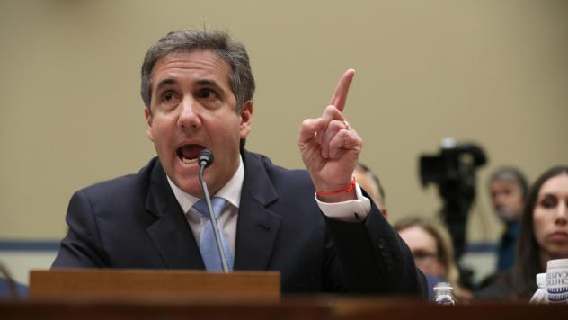 Michael Cohen, former attorney and fixer for President Trump, testifies before the House Oversight Committee on Wednesday.