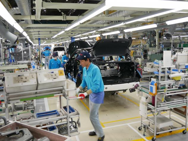 At Toyota's LFA Works plant in Japan, the automaker manufactures 10 Mirai hydrogen fuel cell cars a day. It has plans to ramp up production.