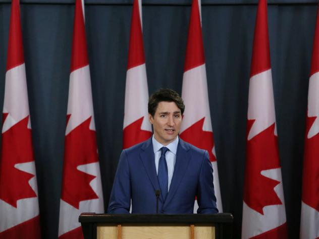 Canada's Prime Minister Justin Trudeau talks to reporters at a news conference on March 7, in Ottawa, Canada. He was accused of interfering in a criminal investigation of SNC-Lavalin, a powerful engineering firm.
