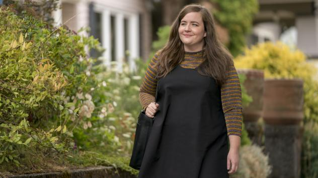 Aidy Bryant plays a young journalist named Annie in the Hulu comedy <em>Shrill. </em>The series is based on Lindy West's 2016 memoir.