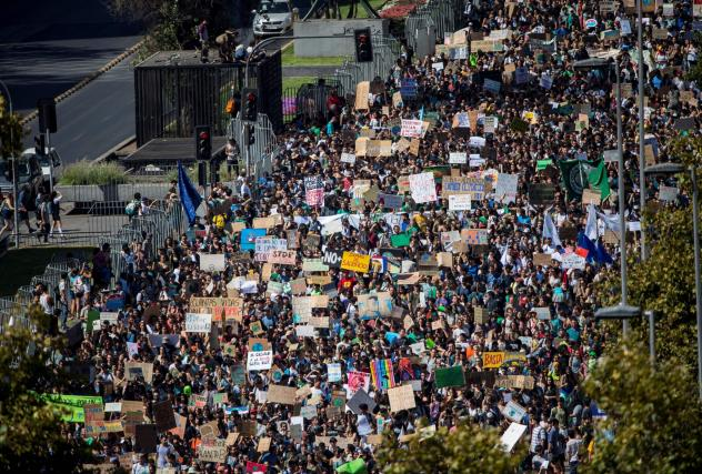 Students call for climate change action in nationwide protests