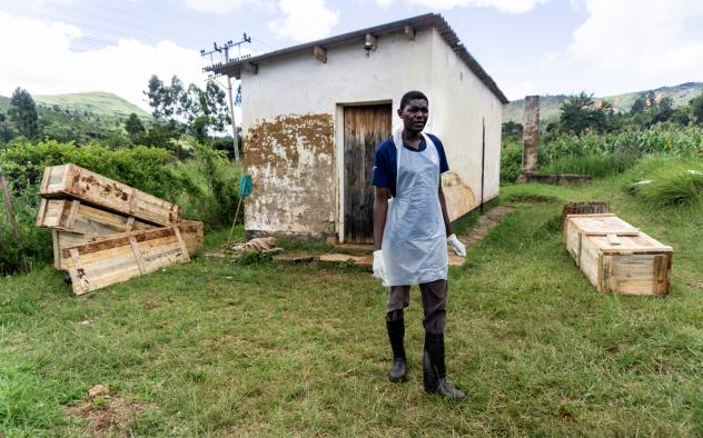 Definite Tom, a primary school teacher, lives in Chimanimanim a town in Zimbabwe. Her home is still standing after the cyclone, but she is afraid to go back. Her grandmother died in the disaster.