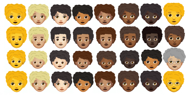 Kerrilyn Gibson designed prototypes for an Afro hair emoji.