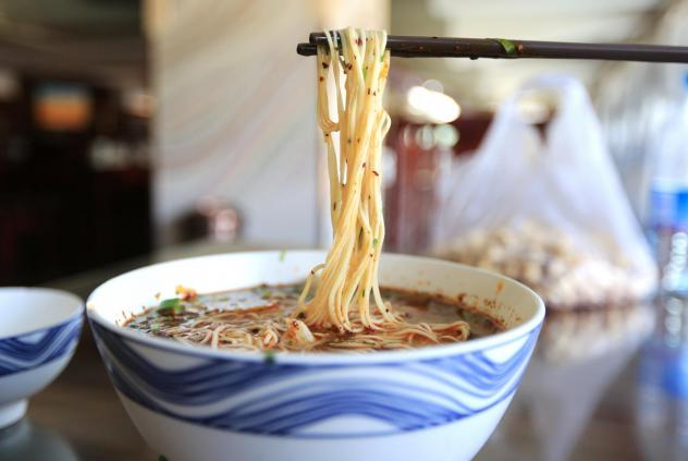 Beef lanzhou noodles are a famous food in China, typically in the northwest area.