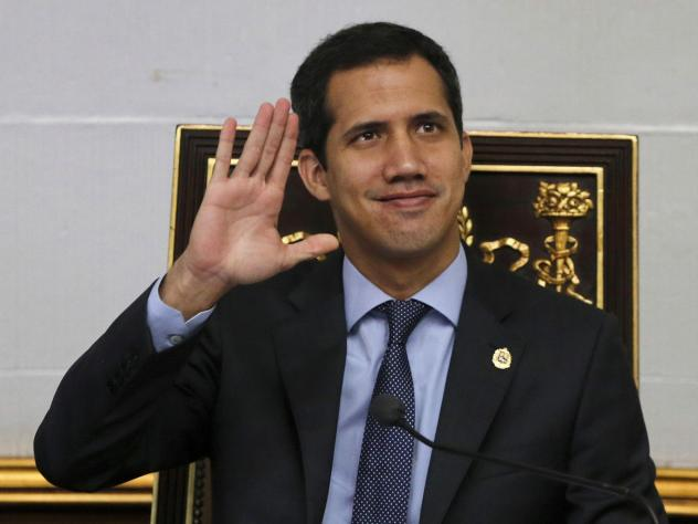 Juan Guaidó appears before the National Assembly in Caracas, Venezuela. The rival pro-government Constituent Assembly voted to strip Guaidó of his parliamentary immunity.
