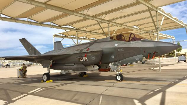 A Lockheed Martin F-35 Lightning II stealth jet fighter on the tarmac at Luke Air Force Base in Arizona. Turkey's purchase of 100 of the advanced aircraft is at risk because the NATO member also intends to buy a Russian anti-aircraft missile defense syst