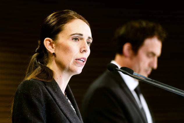 Jacinda Ardern, New Zealand's prime minister, speaks during a news conference in Wellington, New Zealand, on March 21. New Zealand has banned military style semi-automatics and assault rifles and will establish a nationwide buyback of the weapons as a re
