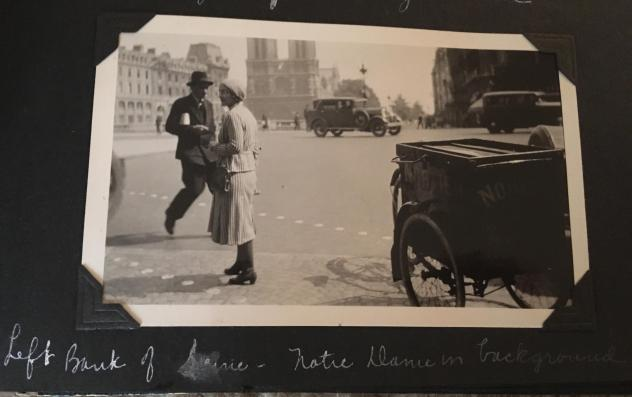 Hannah Bloch, an editor on NPR's international desk, shared this photo her great-grandfather took in 1931, with Notre Dame in the background. He had served as a U.S. Army doctor in France during World War I and returned on holiday years later.