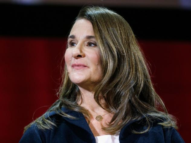 """Melinda Gates at a panel discussion in New York City in February. She is the author of a new book, """"The Moment of Lift: How Empowering Women Changes the World."""""""