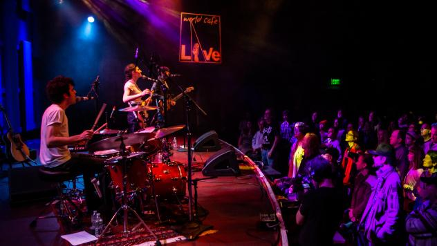 Bailen performing WXPN's Free At Noon Concert at World Cafe Live in Philadelphia, PA.