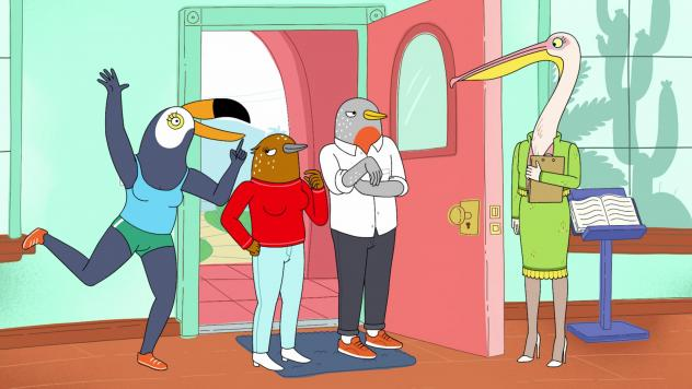 <em>Tuca & Bertie</em> is an adult animation that centers on a brassy, colorful toucan (voiced by Tiffany Haddish) and her neurotic best friend, a songbird (Ali Wong).